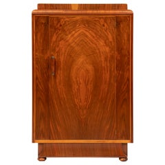 Art Deco Small Linen Press in a Figured Walnut