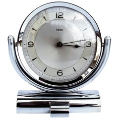 Art Deco Smiths Chrome Table Clock, circa 1930