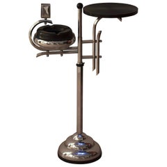 Art Deco Smoking Table, Chromed Steel, France, circa 1930