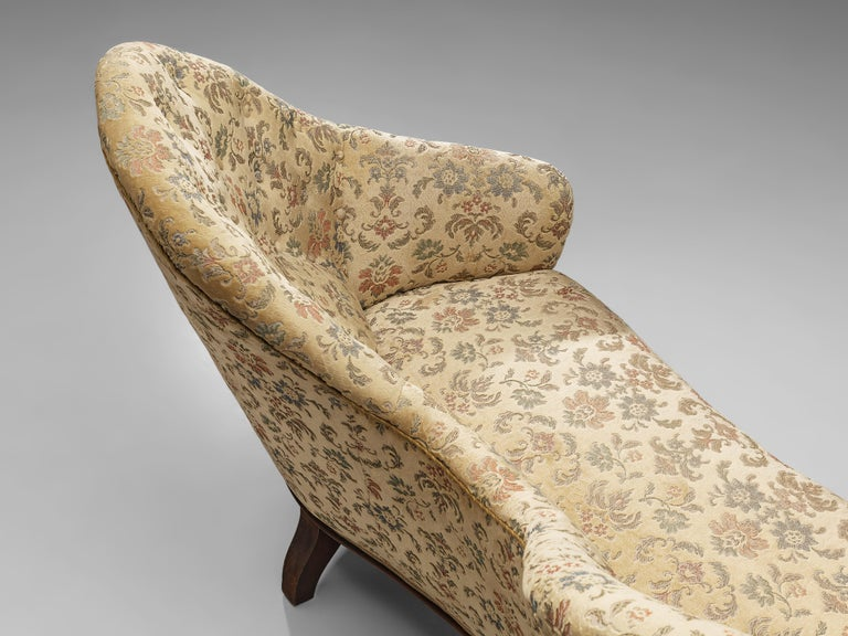 European Art Deco Sofa with Floral Upholstery For Sale