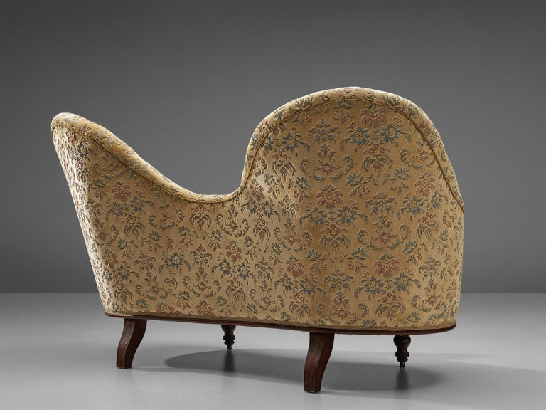 Art Deco Sofa with Floral Upholstery For Sale 1