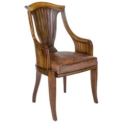 Art Deco Solid Indian Rosewood Desk Chair by Georges Roger