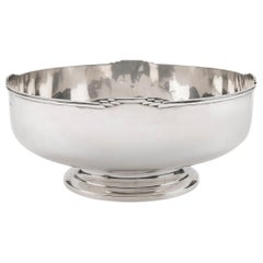 Art Deco Solid Silver Punch Bowl