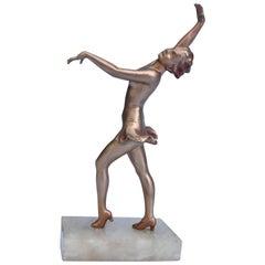 Art Deco Spelter Figure, circa 1935