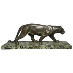 Art Deco Spelter Model of a Panther