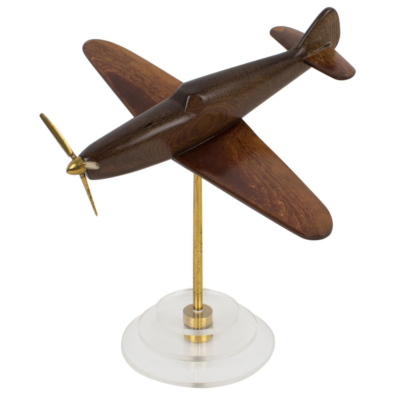 Art Deco Spitfire Bakelite Airplane Aviation Model