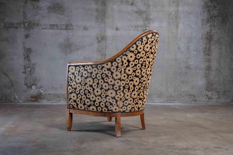 Art Deco Spoon Back Armchair In Good Condition In Los Angeles, CA