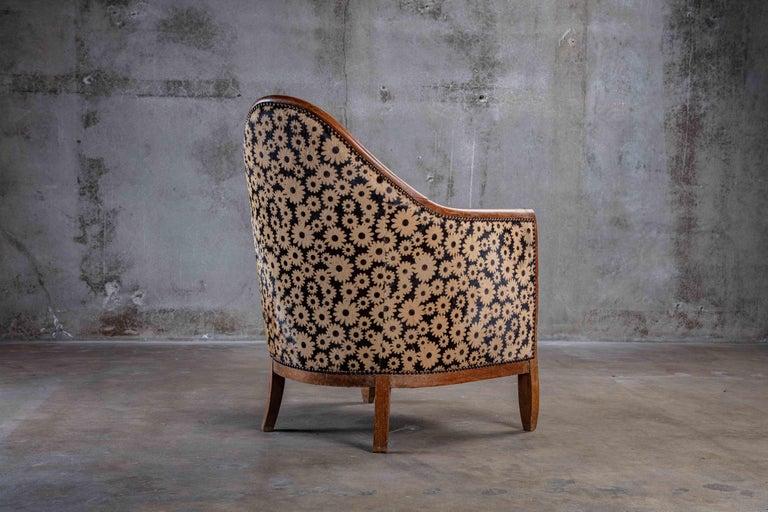 Early 20th Century Art Deco Spoon Back Armchair