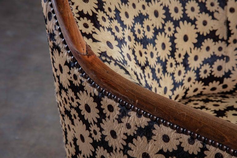 Mohair Art Deco Spoon Back Armchair