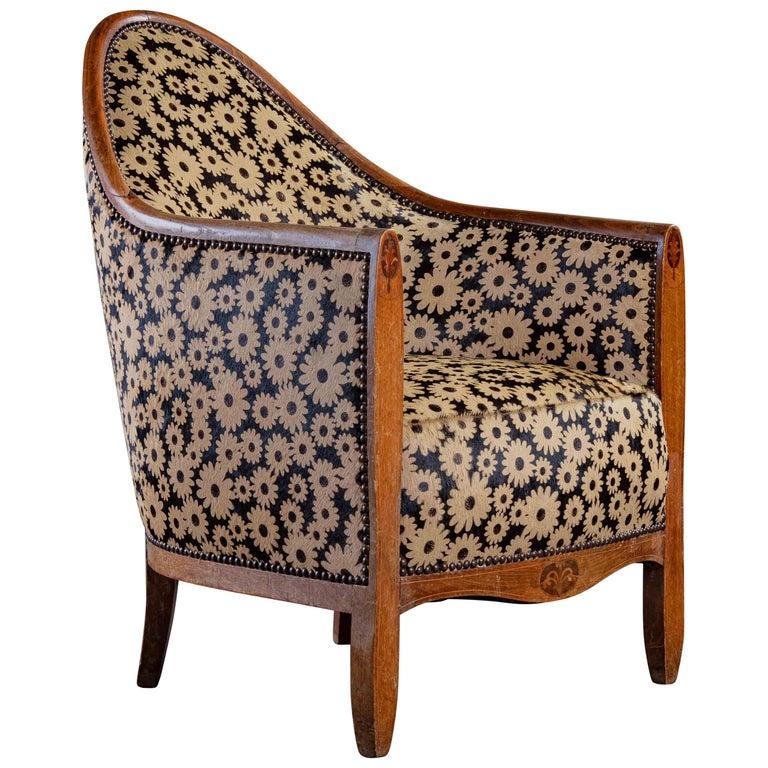 Art Deco Spoon Back Armchair