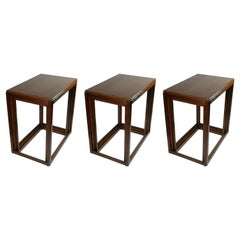 Art Deco Stackable Set of 3 Nesting Tables, 1930's