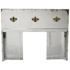 Art Deco Stainless Steel Fireplace Insert