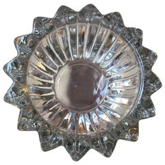 Art Deco 'Star' Glass Dish by Pierre D'Avesn, France, 1930s