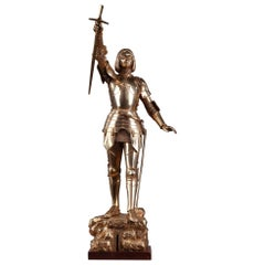 Art Deco Statue Joan of Arc by Gustave Poitvin