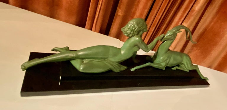 Art Deco Statue Seduction by Fayral for LeVerrier For Sale 6