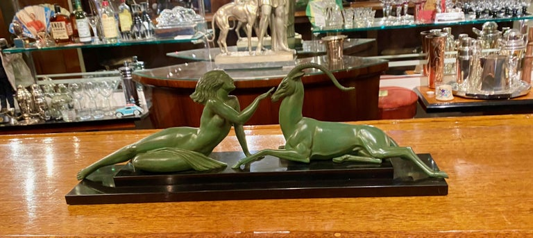 Art Deco Statue Seduction by Fayral for LeVerrier For Sale 7