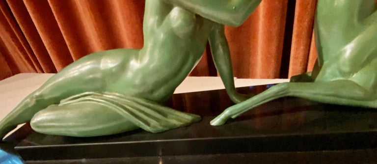 Art Deco Statue Seduction by Fayral for LeVerrier For Sale 3