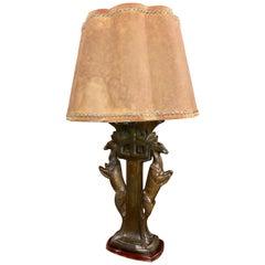Art-Deco-Statue Tisch Lampe Gazellen Französisch von s. Sega