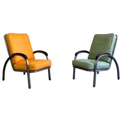 Art Deco Steel Armchairs by Norman Bel Geddes for Simmons Company Furniture