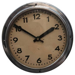 Art Deco Steel Wall Clock