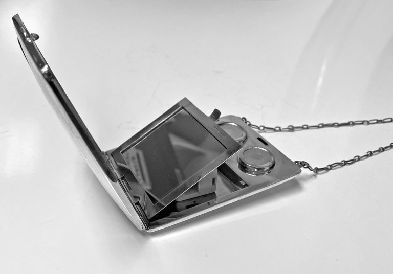 Art Deco Sterling Combination Sovereign Compact Card Case, American, circa 1920 For Sale 2
