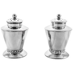 Art Deco Sterling Salt Shakers