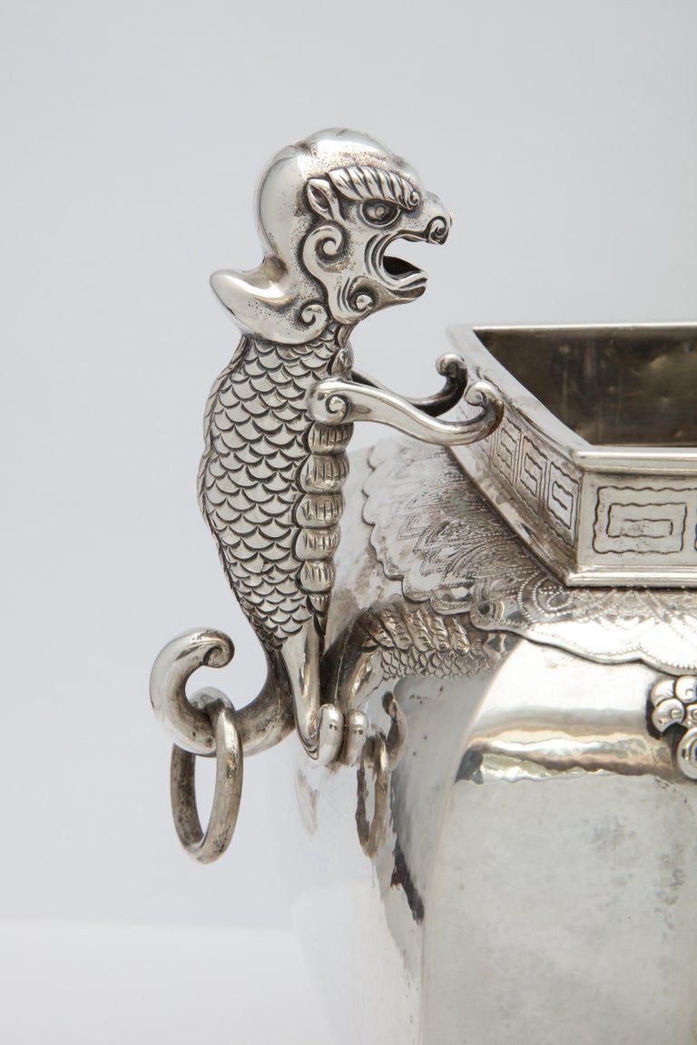 Meiji Period Sterling Silver '.950' Footed Japanese Centerpiece For Sale 8