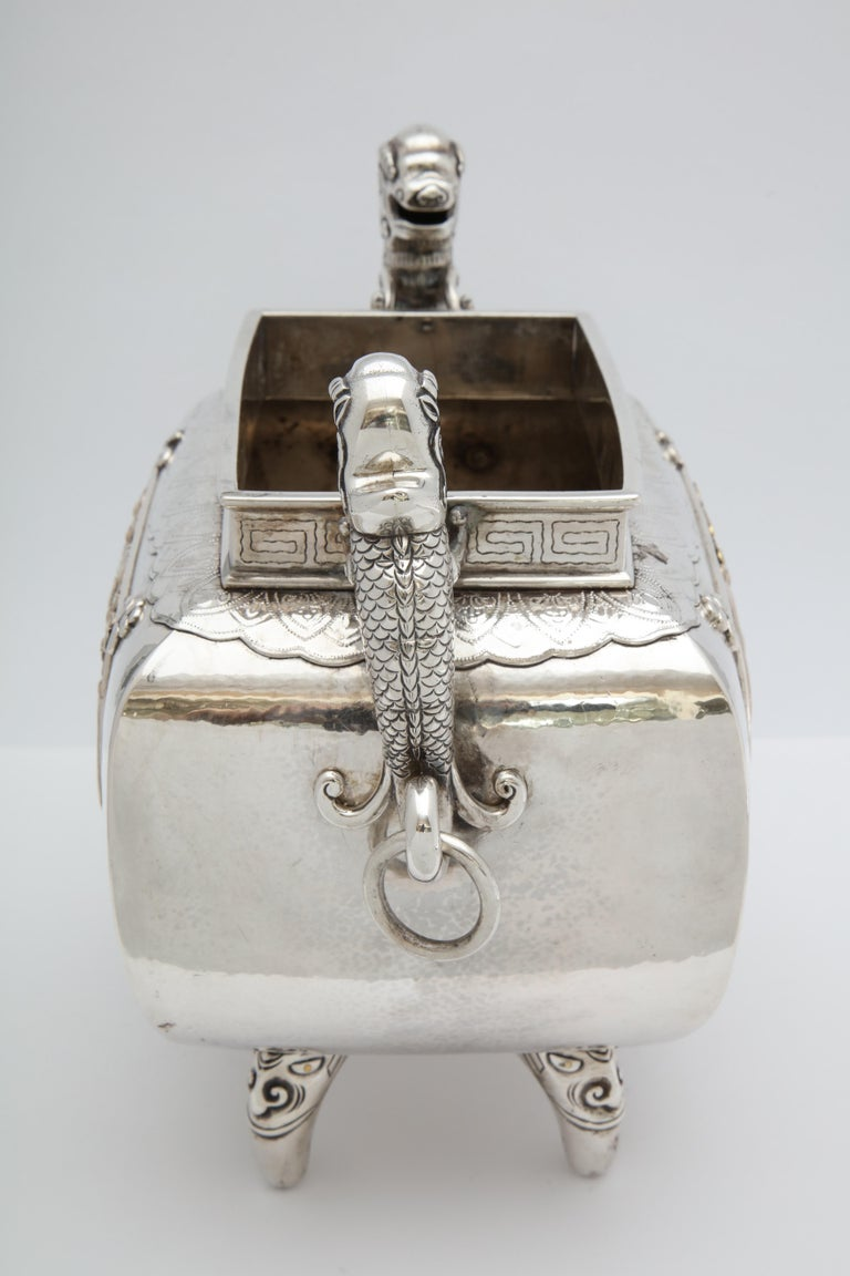 Meiji Period Sterling Silver '.950' Footed Japanese Centerpiece For Sale 1