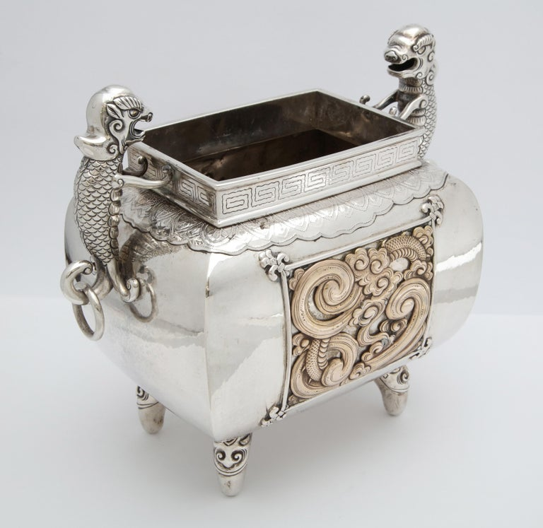Meiji Period Sterling Silver '.950' Footed Japanese Centerpiece For Sale 2