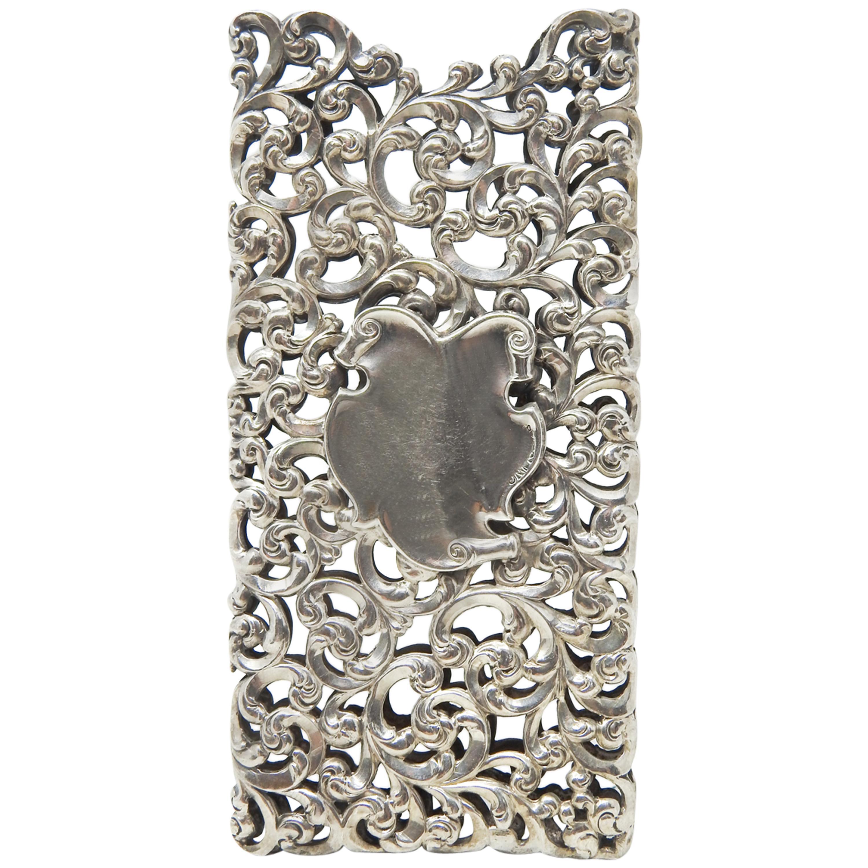 Art Deco Sterling Silver Business Card Holder