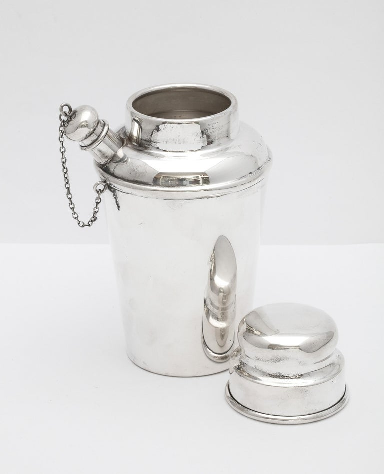 Art Deco Sterling Silver Cocktail Shaker - by Currier & Roby 5