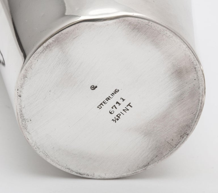 Art Deco Sterling Silver Cocktail Shaker - by Currier & Roby 6