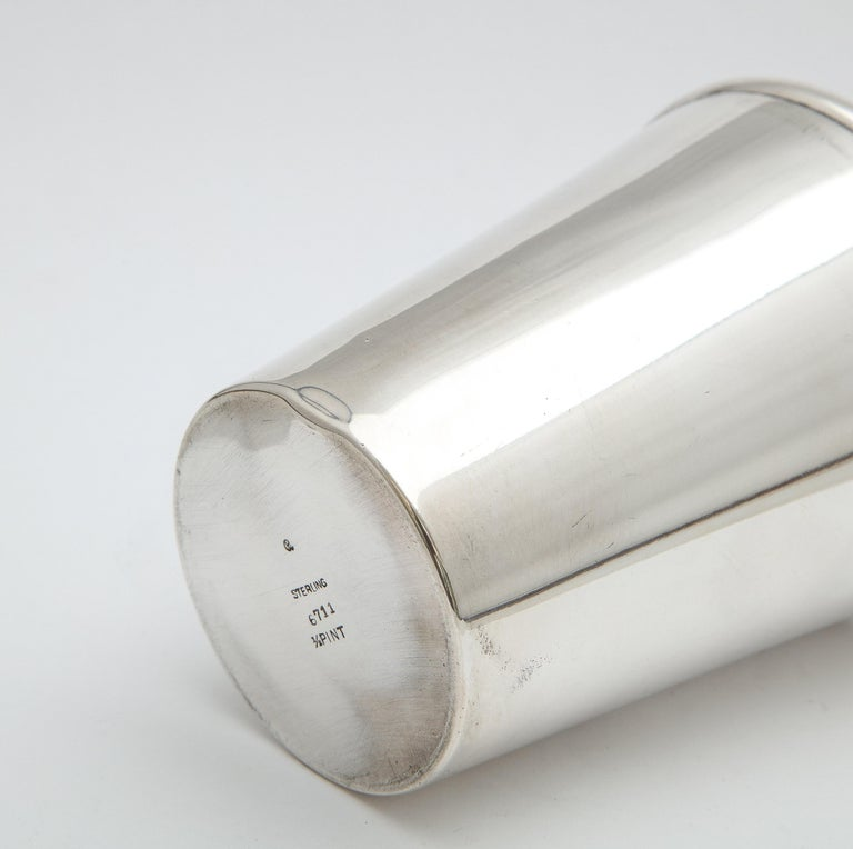 Art Deco Sterling Silver Cocktail Shaker - by Currier & Roby 11