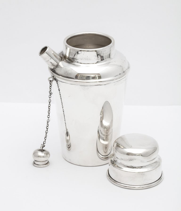 Art Deco Sterling Silver Cocktail Shaker - by Currier & Roby 4