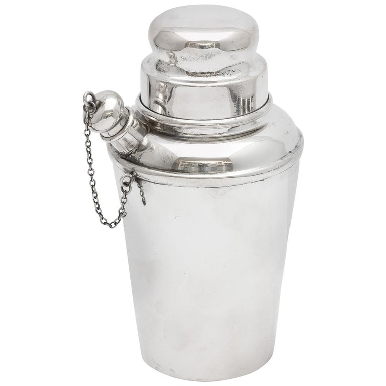 Art Deco Sterling Silver Cocktail Shaker - by Currier & Roby