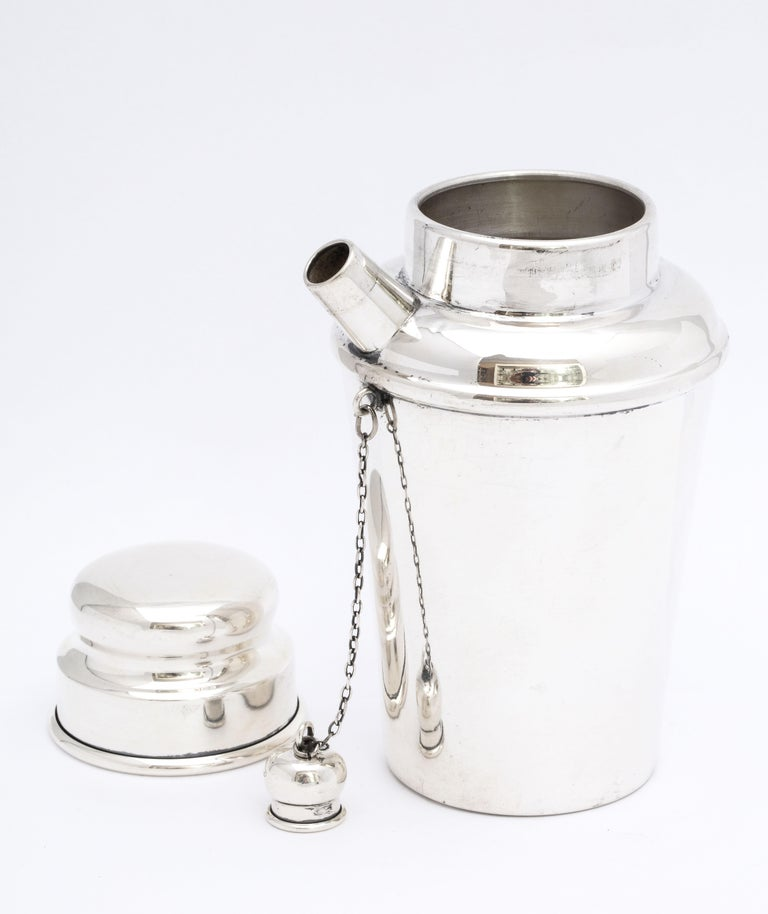 Art Deco Sterling Silver Cocktail Shaker For Sale 5