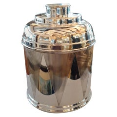 Art Deco Sterling Silver Drum Cigar Humidor, 1930