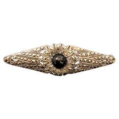 Art Deco Sterling Silver Flower Pin