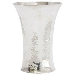 Art Deco Sterling Silver Hand Hammered Beaker/Vase by Hugo Bohm