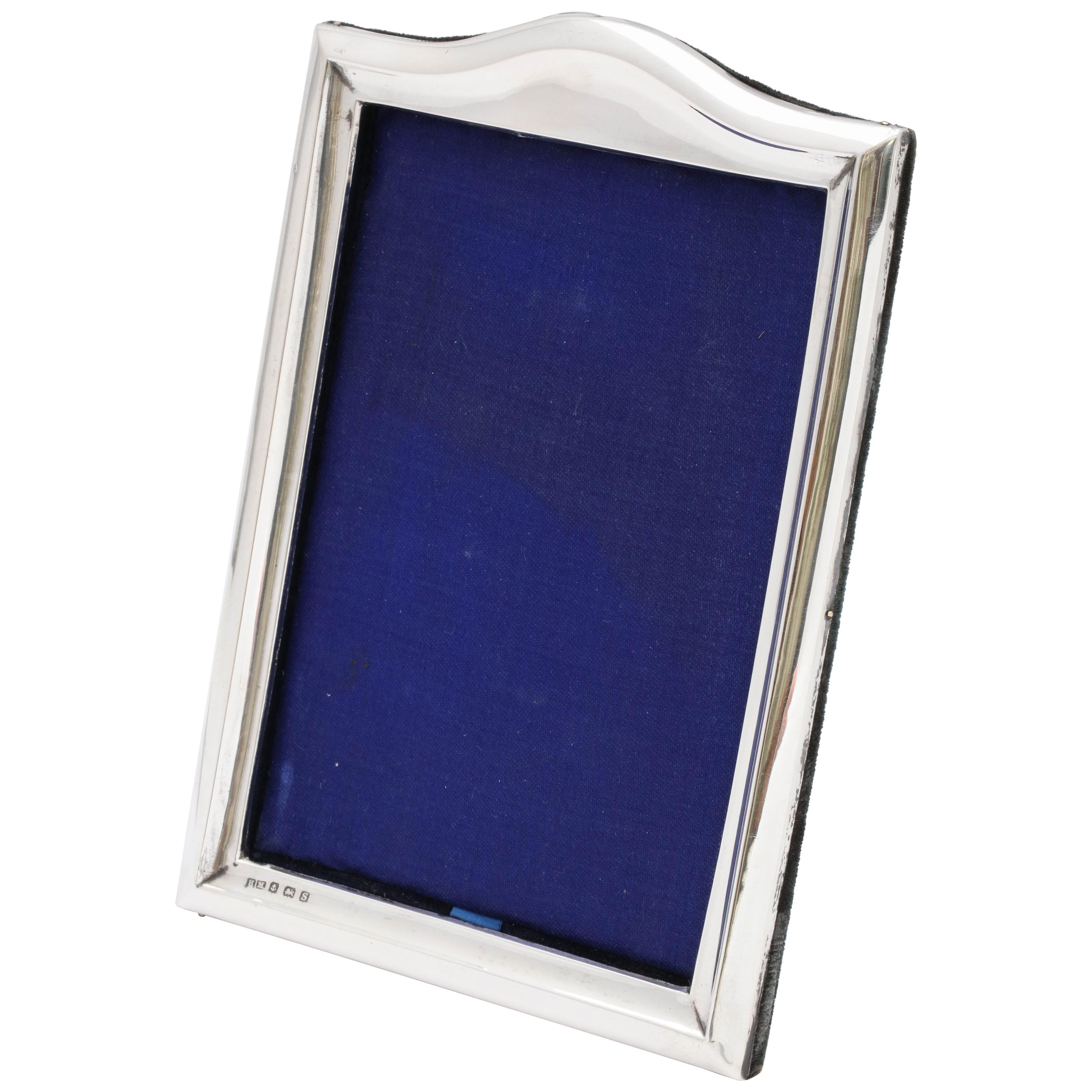 Art Deco Sterling Silver Hump-Topped Picture Frame