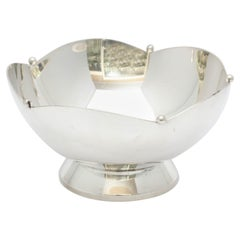 Art Deco Sterling Silver Pedestal-Based Mints/Nuts Bowl