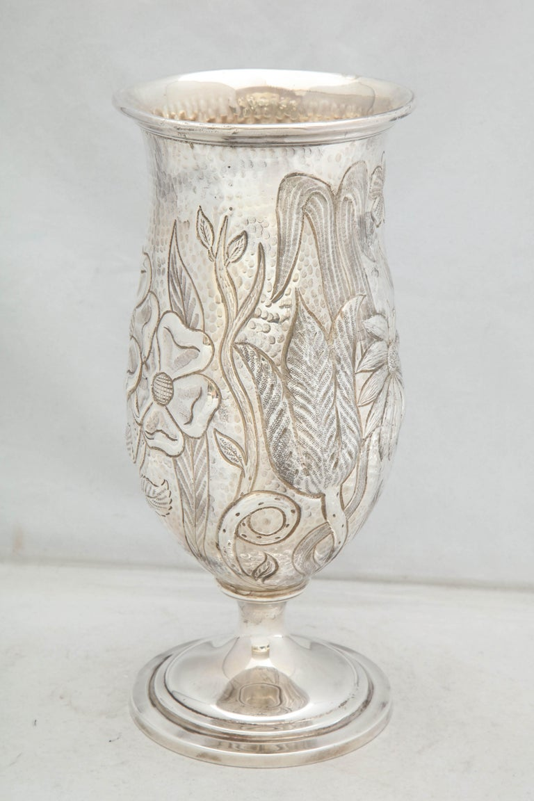 Art Nouveau - Style Sterling Silver Pedestal, Based Vase by Gorham For Sale 7