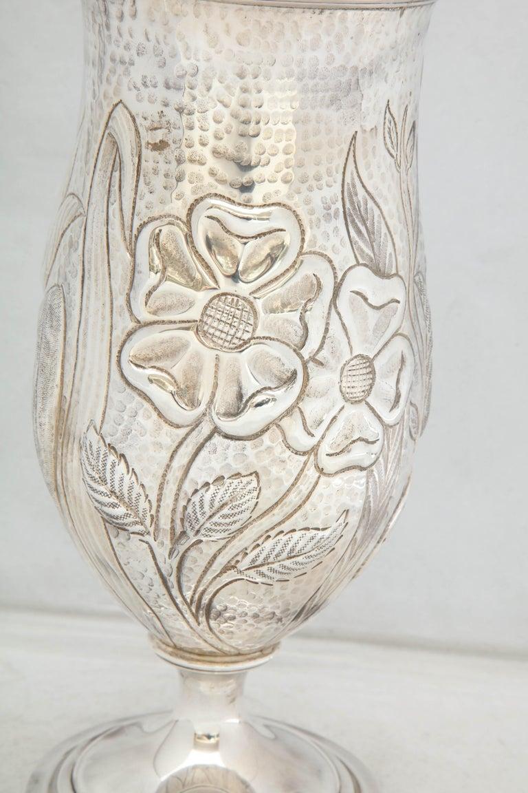Art Nouveau - Style Sterling Silver Pedestal, Based Vase by Gorham For Sale 1