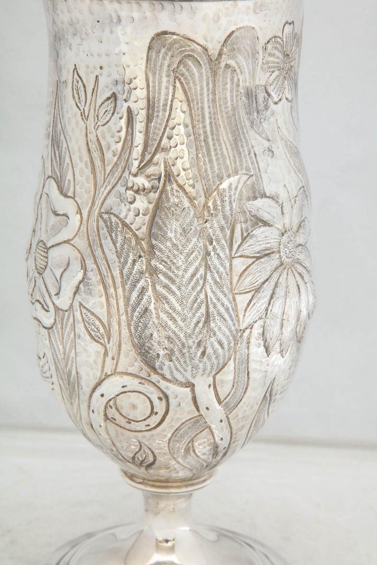 Art Nouveau - Style Sterling Silver Pedestal, Based Vase by Gorham For Sale 2