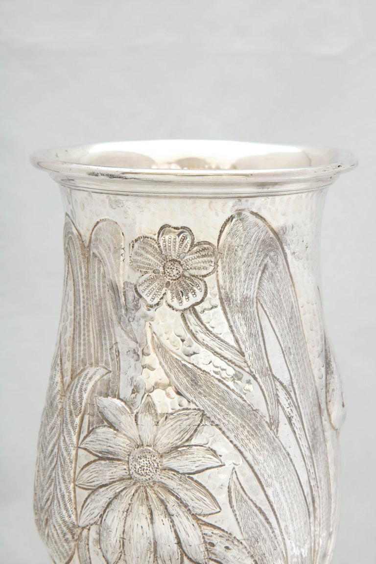 Art Nouveau - Style Sterling Silver Pedestal, Based Vase by Gorham For Sale 3