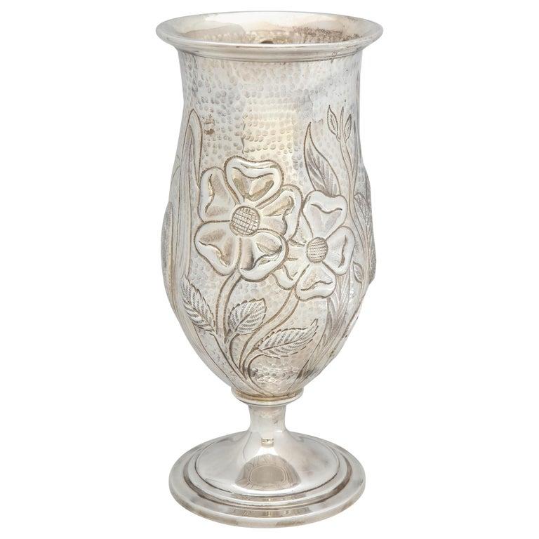 Art Nouveau - Style Sterling Silver Pedestal, Based Vase by Gorham For Sale