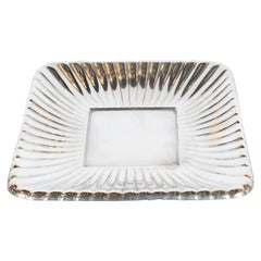Art Deco Sterling Silver Rectangular Sunburst Tray by Reed & Barton