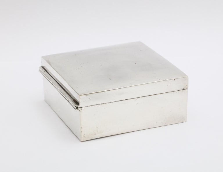 Art Deco Sterling Silver Table Box with Hinged Lid by Shreve & Co. In Good Condition For Sale In New York, NY