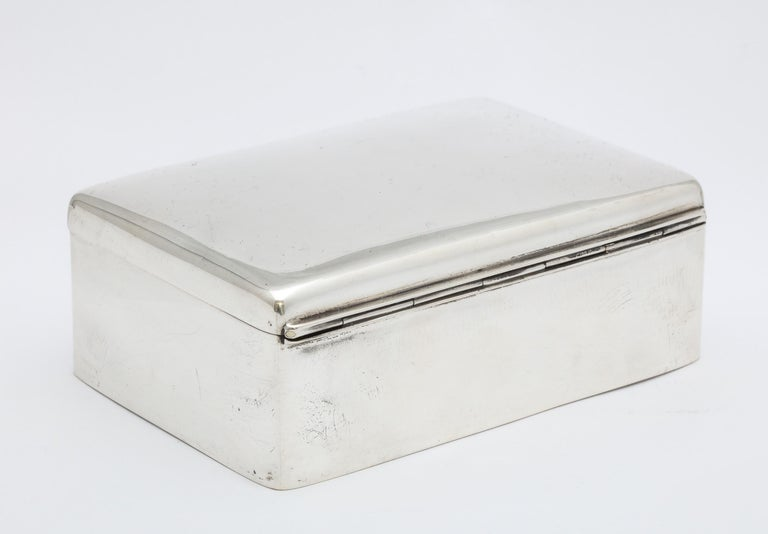 Art Deco Sterling Silver Table Box with Hinged Lid For Sale 2