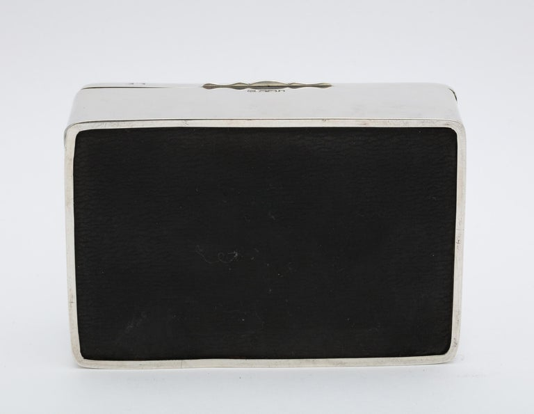 Art Deco Sterling Silver Table Box with Hinged Lid For Sale 4